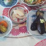 繚乱 - 茄子焼き山芋納豆定食