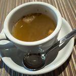 レストランITOSHIMA - ランチのスープ。