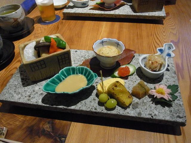 創作和料理 みつわ - 2014.11)税込み5400円のランチの前菜