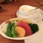 クチーナ・カーサ - 今回のサラダはフルーツサラダでした