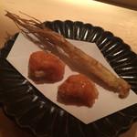 32930634 - 高麗人参とオホーツク海のホタテ貝にナマコの卵巣