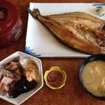 まるみ食堂 - ホッケ定食