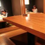 鉄板焼&ワイン KAi 回 - 奥の掘りごたつ席 '14 11月上旬
