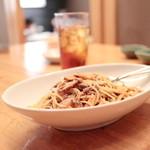 鉄板焼&ワイン KAi 回 - パスタ シャラン鴨と松茸ボロネーゼ (1058円) '14 11月上旬