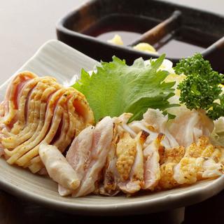 【炭火焼き】宮崎産鶏たたき盛り合わせ