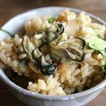 世古牡蠣店 - 渡利牡蠣のカキ御飯 これが美味しい