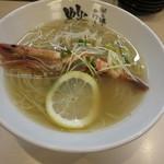 蛍 - 海老塩レモンらーめん 780円