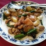 32941221 - 休日ランチ_鶏肉とサツマイモのオイスターソース炒め