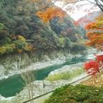 祖谷そば もみじ亭 - お店の前から撮った吉野川渓谷 綺麗です