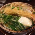 京料理 八平 - 鍋焼きうどん1600円強