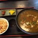 辨慶うどん - 料理写真:2014/11 すじカレー(850円)&炊き込みご飯(小)(200円)