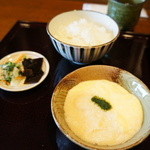 みのり - オプションの白飯と、とろろ