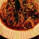 ファンタジー - 料理写真:トマトとバジルのパスタ