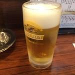 炭火焼鳥 くろちゃん - 生ビール中 530円