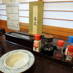 高尾食堂 - 2014年11月24日(月・祝) テーブル席卓上