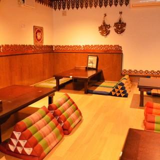 ◆アジアンな雰囲気の寛ぎのお席をご用意!