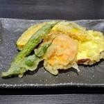 竹國 - なんと野菜の天ぷら付きでした♪