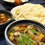 竹國 - 肉汁うどんの定番つけ汁&カレーつけ汁