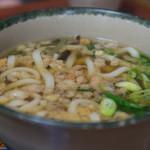 味万 - 1-3)天むす定食の山菜うどん