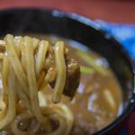 味万 - 2-2)カレーうどんの麺