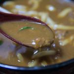 味万 - 2-3)カレーうどんのスープ