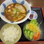 麺丼やころな - 醤油ラーメン+サラダセット