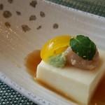 32986537 - ミニ懐石1950円・先付け  豆乳豆腐