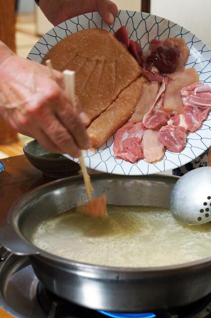 水たき 長野 - 中居さんが料理をしてくれます。