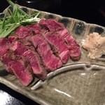 庄司 - 和牛ヒレ 山わさび添え1,200円