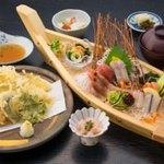 彩旬 - 料理写真:天婦羅御造里御膳(7種盛り) 3,480円