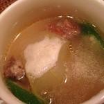 トラットリア ダ ナオシ - お野菜の旨味が味わえる冬瓜のスープ
