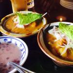 カフェくるくま - 意外にもカレーはタイ風サラサラカレーではなく、日本の欧風カレーに近いです。                             辛さも日本のカレー位です。