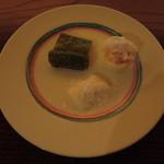 33014957 - 万願寺唐辛子、淡路の玉葱、ゆで卵にコーヒーリキュール