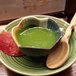京おばんざい亀麟 - 水物:お抹茶プリン