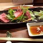 京おばんざい亀麟 - メイン:和牛のたたき