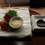 京おばんざい亀麟 - 造り:さしみと刺身湯葉