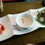 Bistro オオロラ - ★コースのオードブル&スープ&グリーンサラダ