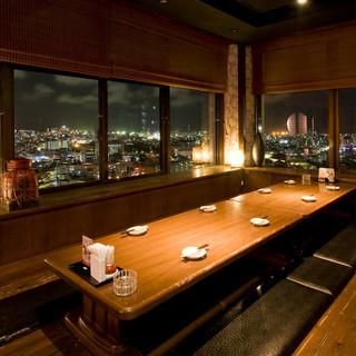 浦添市の高台から望む夜景