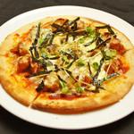 照り焼きチキンのピッツァ/シーフードのピッツァ