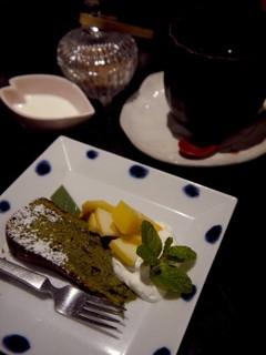 ゆりね - 抹茶と小豆のガトーショコラ