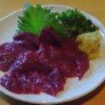 北海道場 - 美味♪鹿刺し!なかなか出会えない味です。