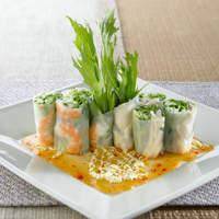 シダックス - 【野菜たっぷりヘルシー】海老と蒸し鶏の生春巻き 800円