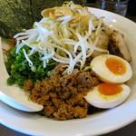 麺遊庵 - 料理写真:まぜそば+トッピング全部のせ+特盛り(800+350+220円)