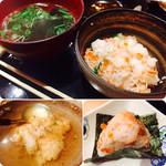 新乃 - 【椀物、土鍋ごはん】・鮭とイクラの親子土鍋ごはん様なんと夢のような親子(笑)