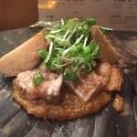新乃 - 【焼き物】・豚肉と山芋のほうば焼き様下げようとする手を止めてしまって最後までこの味噌舐めながらヒヤヒヤしてしまった(笑)