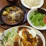 たま道 - ハヤシライス  煮込みハンバーグ