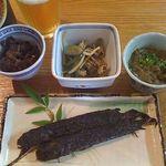 33025805 - ムツゴロウ甘露煮&メカジャ塩茹&ワケノシンノス味噌煮、ガネ漬け
