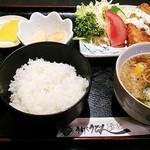 珍吉 - 料理写真:白身フライ定食♪