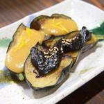 """実のり - 料理写真:""""茄子の田楽""""味噌が上品で、口の中でジュワ~っと広がるナスの甘み、味噌が引き出す旨味がハーモニーを奏でる。"""