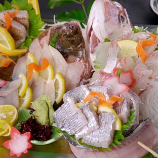 その日水揚げされた鮮度抜群の海鮮料理